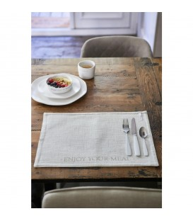 RM - Enjoy Your Meal Placemat flax