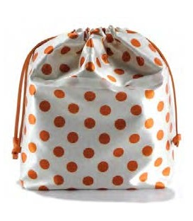 HYMY Bag POCHETTE Satin - Orange Dots Pois Arancio