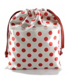 HYMY Bag POCHETTE Satin - Red Dots Pois Rosso
