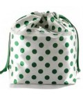 HYMY Bag POCHETTE Satin - Green Dots Pois Verde