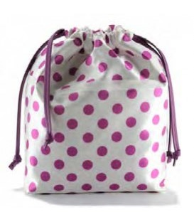 HYMY Bag POCHETTE Satin - Pink Dots Pois Fuxia