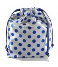 HYMY Bag POCHETTE Satin - Blue Dots Pois Blu