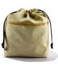 HYMY Bag POCHETTE Glitter - Glitter Gold Oro