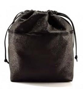 HYMY Bag POCHETTE Glitter - Glitter Black Nero