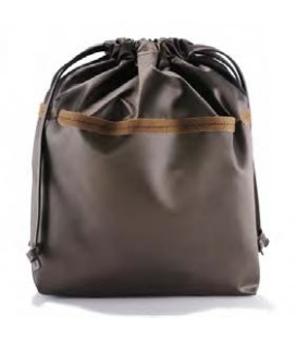 HYMY Bag POCHETTE Satin - Satin Marrone