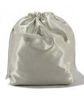 HYMY Bag POCHETTE Satin - Satin Bianco