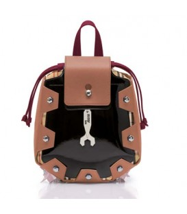 Hymy Bag Zainetti Ziano Mini LONDON Line - Nr. 4 Camel Nero Rubino