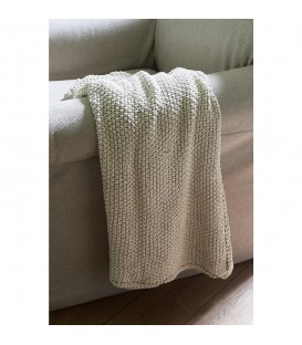 Riviera Maison - Classic Knit Throw off white 170x130