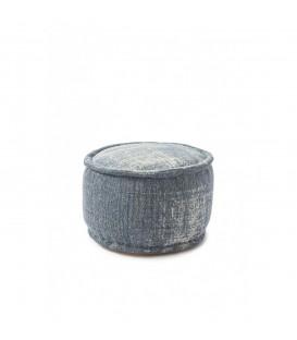 Riviera Maison - Casablanca Pouf 50 diameter, jeans blue