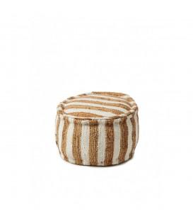 Riviera Maison - Casablanca Pouf 50 diameter, stripe