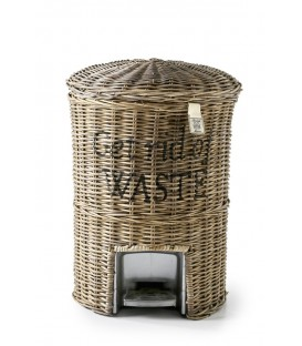 Riviera Maison - Rustic Ratan Get Rid of Waste Basket