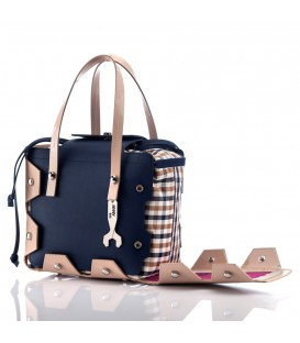 HYMY Bag Cambridge Line - Nr.1 Camel Blue
