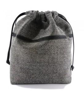 HYMY Bag POCHETTE Satin - Tweed Nero