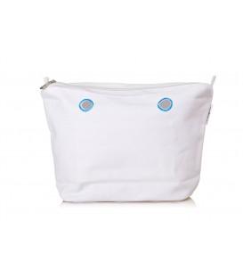 O bag Mini Canvas - White
