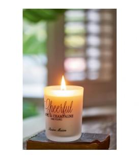 RM Scented Candle Cheerful - Rose & Champagne