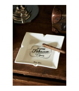 RM Tobacco Cigars Square Ashtray