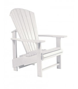 C.R. Plastic Products - Upright Adirondack C03 - White
