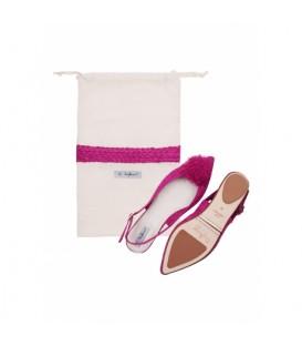 Bagllerina - Raffia Sandal - Rose Bougainvilliers